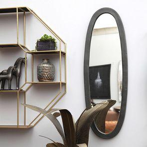 Miroir ovale en aluminium