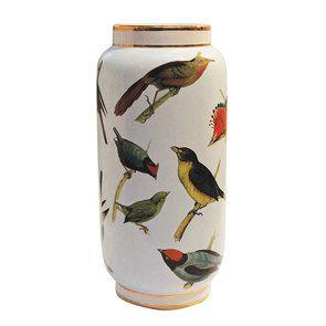 Vase en porcelaine à motif oiseaux