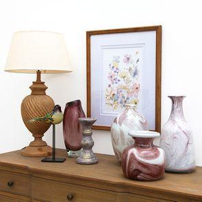 Vase blanc et violet