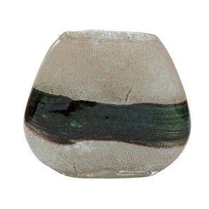 Vase vert en verre