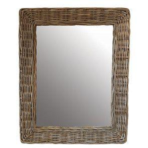 Miroir en rotin 105X85 cm