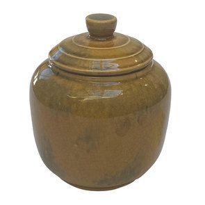Pot décoratif vert avec couvercle