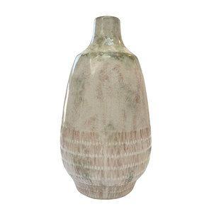 Vase décoratif beige/vert
