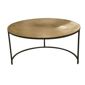 Tables basses rondes gigognes bronze - Factory