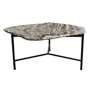 Table basse marbre et fer- Minéral