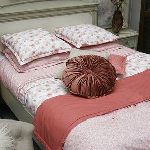 Boutis rose à fleurs 130x180 cm