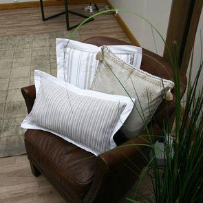 Housse de coussin à rayures 30x50 cm