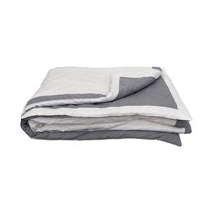 Boutis blanc et gris 130x180 cm