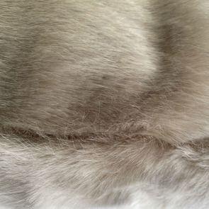 Housse de coussin en fausse fourrure 40x40 cm