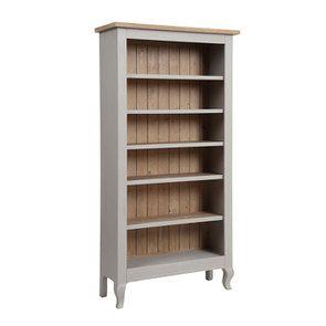 Bibliothèque grise en épicéa massif - Provence - Visuel n°2