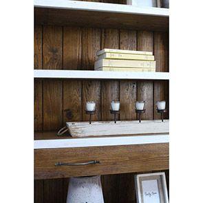 Étagère tiroir de bibliothèque en épicéa massif blanc - Provence - Visuel n°5