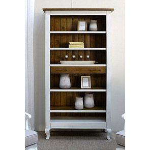 Étagère tiroir de bibliothèque en épicéa massif blanc - Provence - Visuel n°3