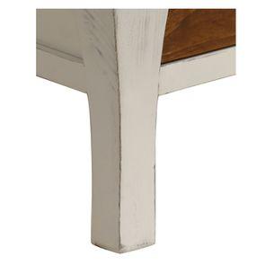 Table basse rectangulaire 2 tiroirs en épicéa massif blanc vieilli - Provence - Visuel n°10