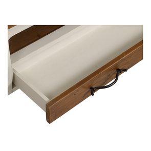 Table basse rectangulaire 2 tiroirs en épicéa massif blanc vieilli - Provence - Visuel n°13