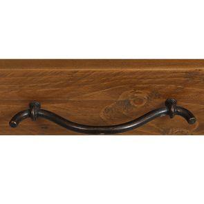 Table basse rectangulaire 2 tiroirs en épicéa massif blanc vieilli - Provence - Visuel n°14