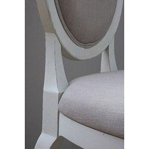 Chaise médaillon en tissu et hévéa - Provence - Visuel n°6