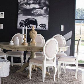 Chaise médaillon en tissu et hévéa - Provence - Visuel n°4