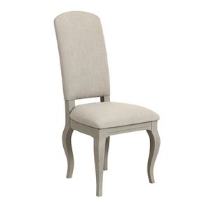 Chaise grise en tissu et hévéa - Provence - Visuel n°2