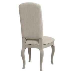 Chaise grise en tissu et hévéa - Provence - Visuel n°4