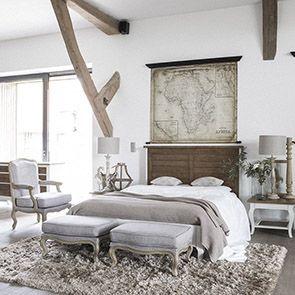 Lit 160x200 en épicéa massif blanc vieilli - Provence - Visuel n°2