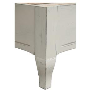 Lit pour literie 180x200 cm en épicéa blanc vieilli - Provence - Visuel n°8