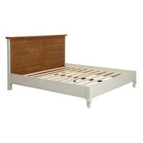 Lit pour literie 180x200 cm en épicéa blanc vieilli - Provence - Visuel n°3