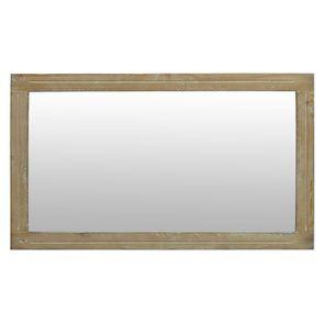Miroir rectangulaire en épicéa massif gris tourterelle - Provence