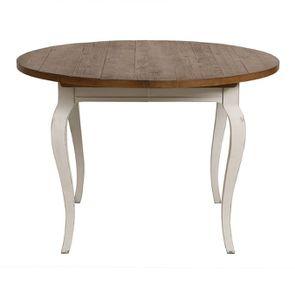 Table ronde extensible en épicéa massif 4 à 8 personnes - Provence - Visuel n°1