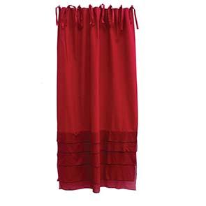 Rideau à plis en coton