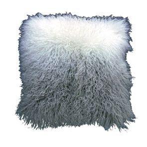 Housse de coussin en fourrure d'agneau tibétain 40x40