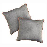 Housses de coussins grises en coton 40x40 (lot de 2)