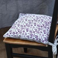 Galette de chaise réversible en coton 40x40