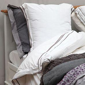Linge de lit réversible 240x260 + paire de taies d'oreiller en popeline de coton