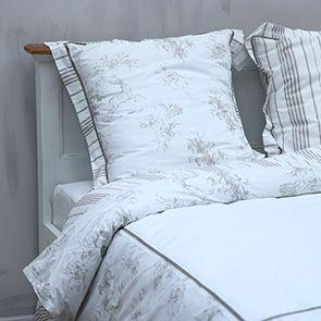 Linge de lit réversible 240x260 avec 2 taies d'oreiller en popeline de coton