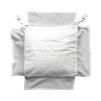 Galette de chaise blanche en coton 40x40