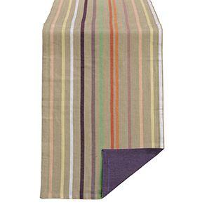 Linge de table réversible en coton et lin 180x50