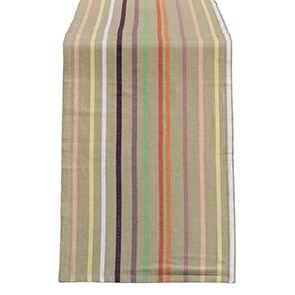 Linge de table réversible en coton et lin 180x50 - Visuel n°1