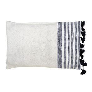 Housse de coussin tissée en coton 30x50