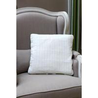 Housses de coussins blanches en coton et lin 40x40 (lot de 2)