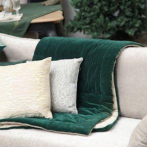 Edredon réversible en velours et coton 130x180 cm