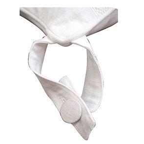 Galette de chaise blanche en dentelle 40x40 - Visuel n°3