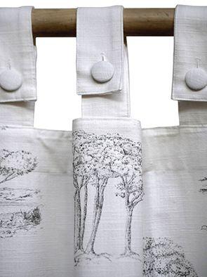 Rideau imprimé a motifs 140x270 - Visuel n°3