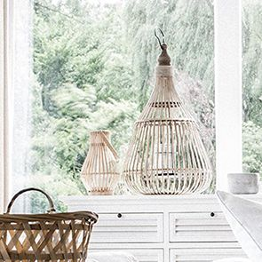 Lanterne en bambou naturel