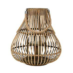 Lanterne en bois naturel
