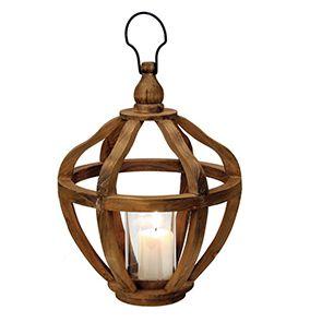 Lanterne XL en bois h55