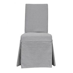 Chaise avec housse en tissu - Agathe
