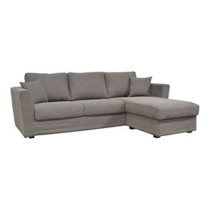 Canapé d'angle 5 places en tissu taupe - Boston - Visuel n°2