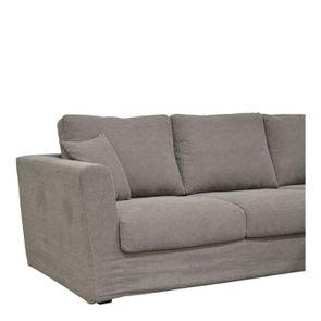 Canapé d'angle 5 places en tissu taupe - Boston - Visuel n°3