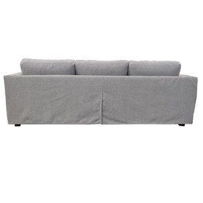 Canapé d'angle 5 places en tissu gris clair - Boston - Visuel n°6