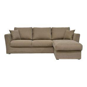 Canapé d'angle 5 places en tissu - Boston